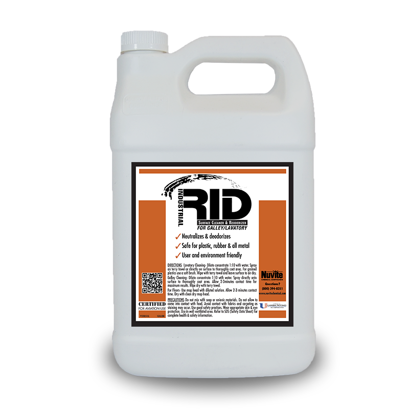 RID GALLEY & LAVATORY SURFACE CLEANER and REODORIZER
